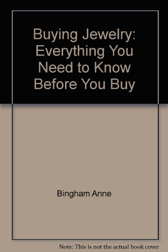 9780070051225: Buying jewelry: Everything you need to know before you buy