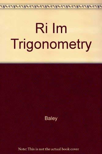 9780070051898: Ri Im Trigonometry