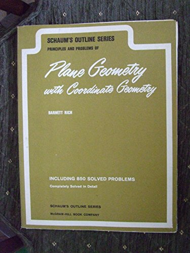 9780070052246: Schum's Outline Series - Principles and Problems of Plane Geometry - with Coordinate Geometry
