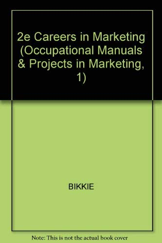 9780070052369: Careers in Marketing (Occupational Manuals & Projects in Marketing, 1)