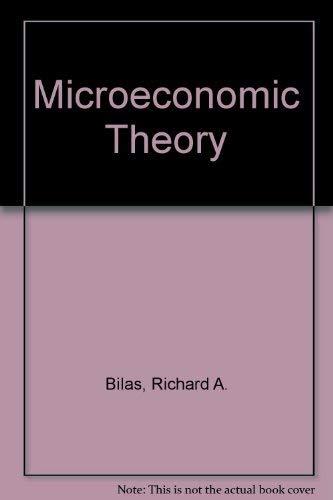 9780070052581: Microeconomic Theory