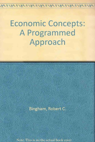 9780070052956: Economic Concepts: A Programmed Approach