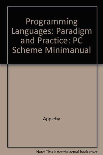9780070053175: Programming Languages: Paradigm and Practice: PC Scheme Minimanual