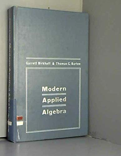 9780070053816: Modern Applied Algebra
