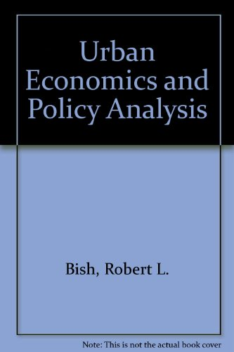 9780070053885: Urban Economics and Policy Analysis