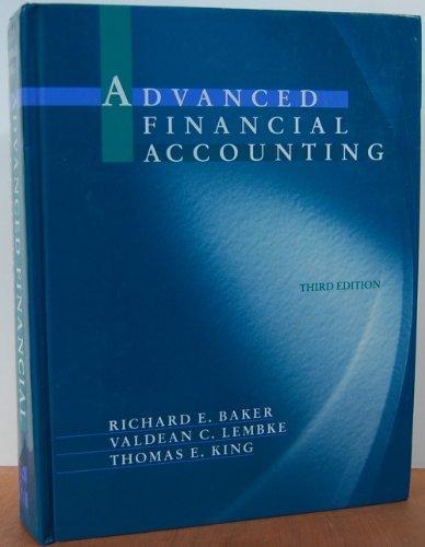 9780070054141: Advanced Financial Accounting