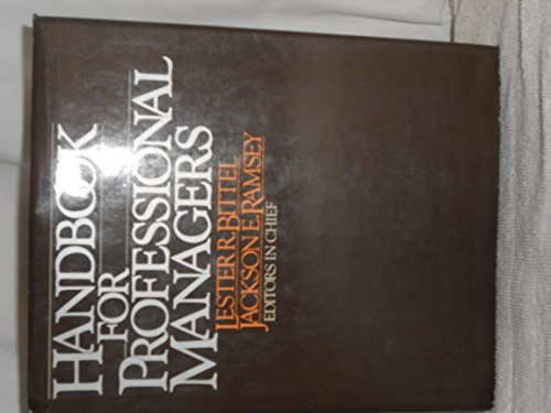 9780070054691: Handbook for Professional Managers
