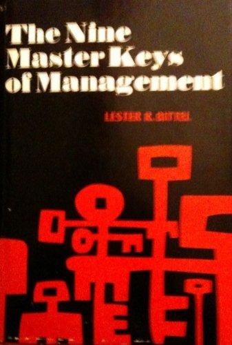 9780070054769: Nine Master Keys of Management