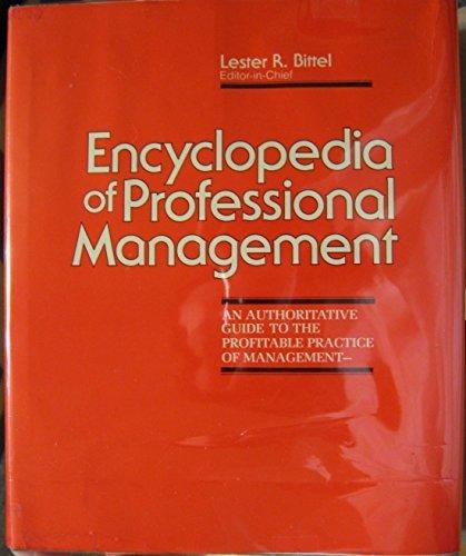 9780070054783: Encyclopedia of Professional Management