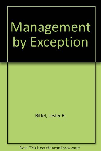 9780070054844: Management by Exception: Systematizing and Simplifying the Managerial Job