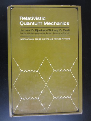 9780070054936: Relativistic Quantum Mechanics (Pure & Applied Physics)