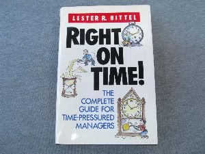 9780070055841: Right on Time!: The Complete Guide for Time-pressured Managers