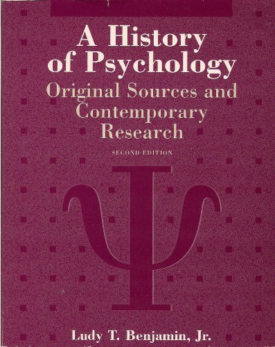 9780070055995: A History of Psychology: Original Sources and Contemporary Research