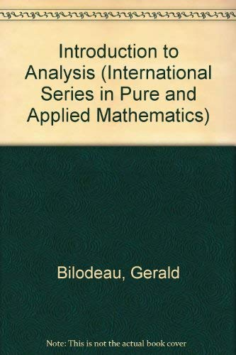 9780070056626: An Introduction To Analysis