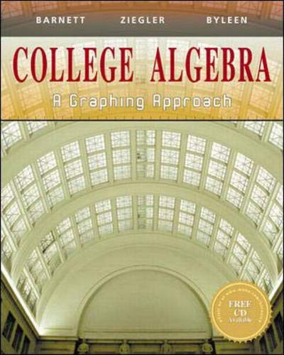 9780070057104: College Algebra: A Graphing Approach