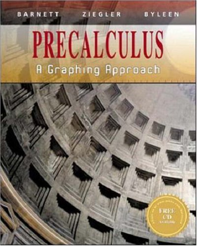 9780070057173: Precalculus: A Graphing Approach