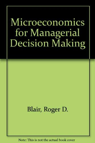 9780070058002: Microeconomics for Managerial Decision Making
