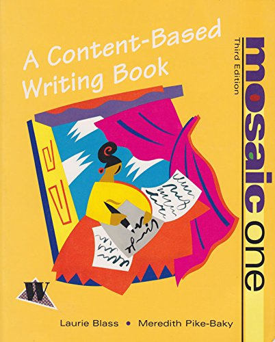 9780070058491: Mosaic I: A Content-Based Writing Book
