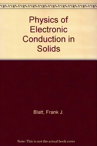 9780070058767: Physics of Electronic Conduction in Solids