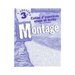 9780070060296: Workbook/Lab Manual to accompany Montage: Deuxieme niveau