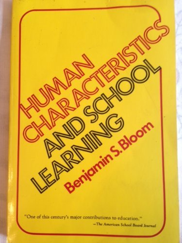 9780070061224: Human Characteristics and School Learning