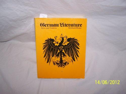 9780070061873: German Literature: Texts and Contexts (German Edition)
