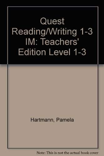 9780070062597: Instructor's Manual to accompany Quest: Reading and Writing in the Academic World, Books 1-3