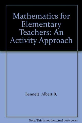9780070062986: Mathematics for Elementary Teachers: An Activity Approach