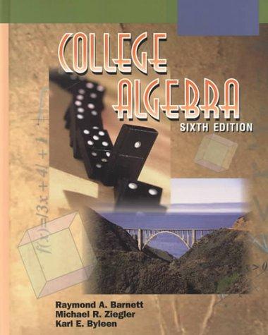 9780070063211: College Algebra