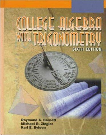 9780070063365: College Algebra with Trigonometry