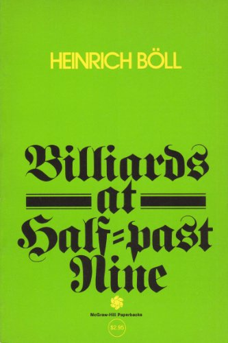 9780070064010: Billiards at Half-Past Nine: A Post-War German Novel
