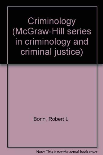 9780070064577: Criminology (McGraw-Hill series in criminology and criminal justice)