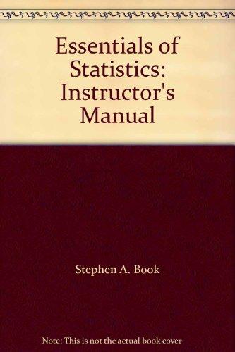 9780070064652: Essentials of Statistics: Instructor's Manual