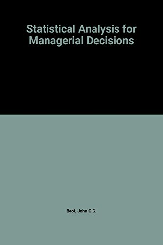9780070065185: Statistical Analysis for Managerial Decisions