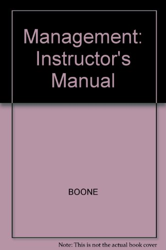9780070065741: Management: Instructor's Manual