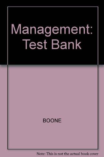 9780070065758: Management: Test Bank