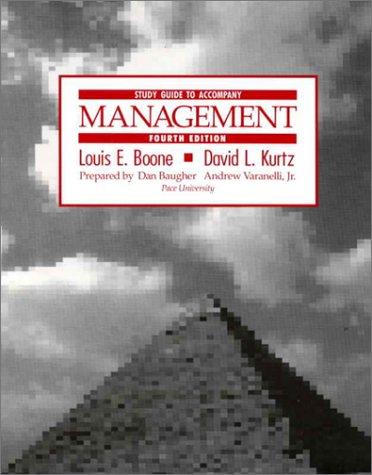 9780070065772: Management: Study Guide to 4r.e