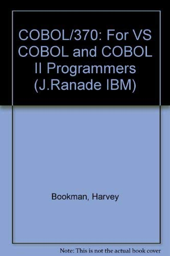 9780070065833: Cobol/370: For Vs Cobol and Cobol II Programmers (J Ranade Ibm Series)