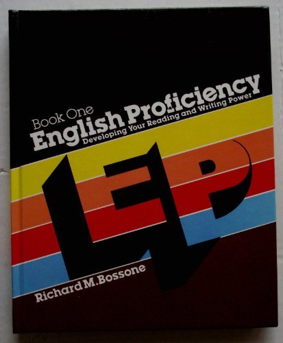 9780070065895: English Proficiency: Developing Your Reading and Writing Power, Book One