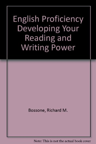 9780070065932: English Proficiency Developing Your Reading and Writing Power