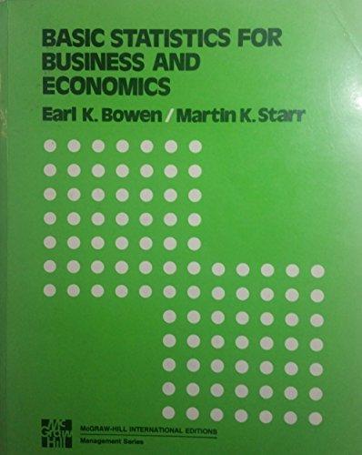 9780070067257: Basic Statistics for Business and Economics (McGraw-Hill series in quantitative methods for management)