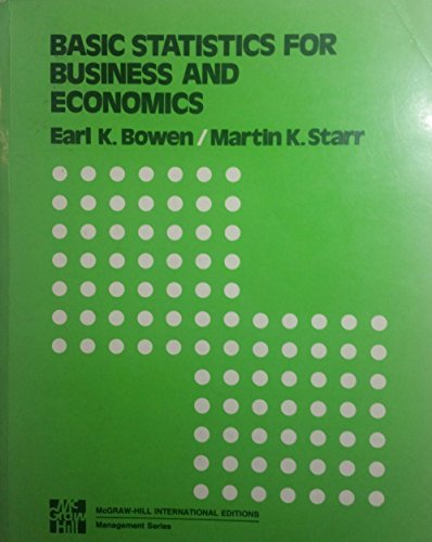 9780070067257: Basic statistics for business and economics (McGraw-Hill series in quantitative methods for management)