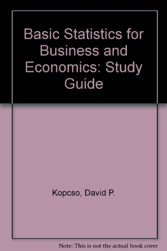 9780070067271: Study Guide to Accompany Bowen/Starr: Basic Statistics for Business and Economics