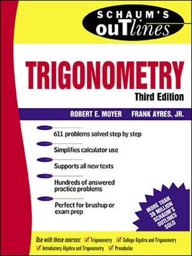 9780070068933: Schaum's Outline of Trigonometry: With Calculator-based Solutions (Schaum's Outline Series)