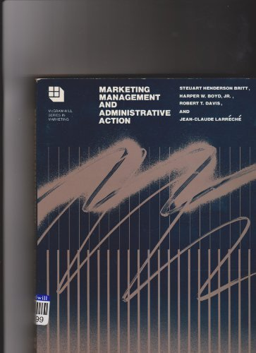 9780070069497: Marketing Management and Administrative Action (MCGRAW HILL SERIES IN MARKETING)