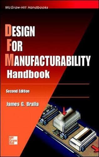 Design for Manufacturability Handbook (Hardback): James G. Bralla