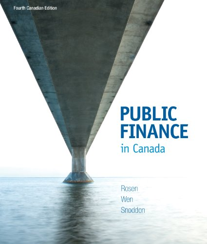 Public Finance in Canada: Snoddon, Tracy, Wen,