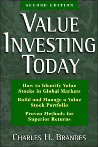 9780070071902: Value Investing Today: Proven Techniques for Long Term Growth