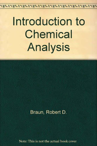 9780070072800: Introduction to Chemical Analysis