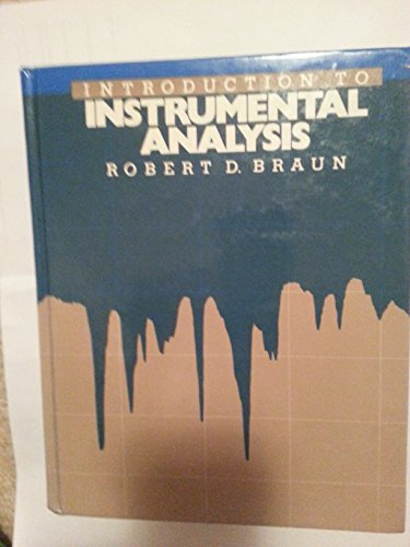 9780070072916: Introduction to Instrumental Analysis